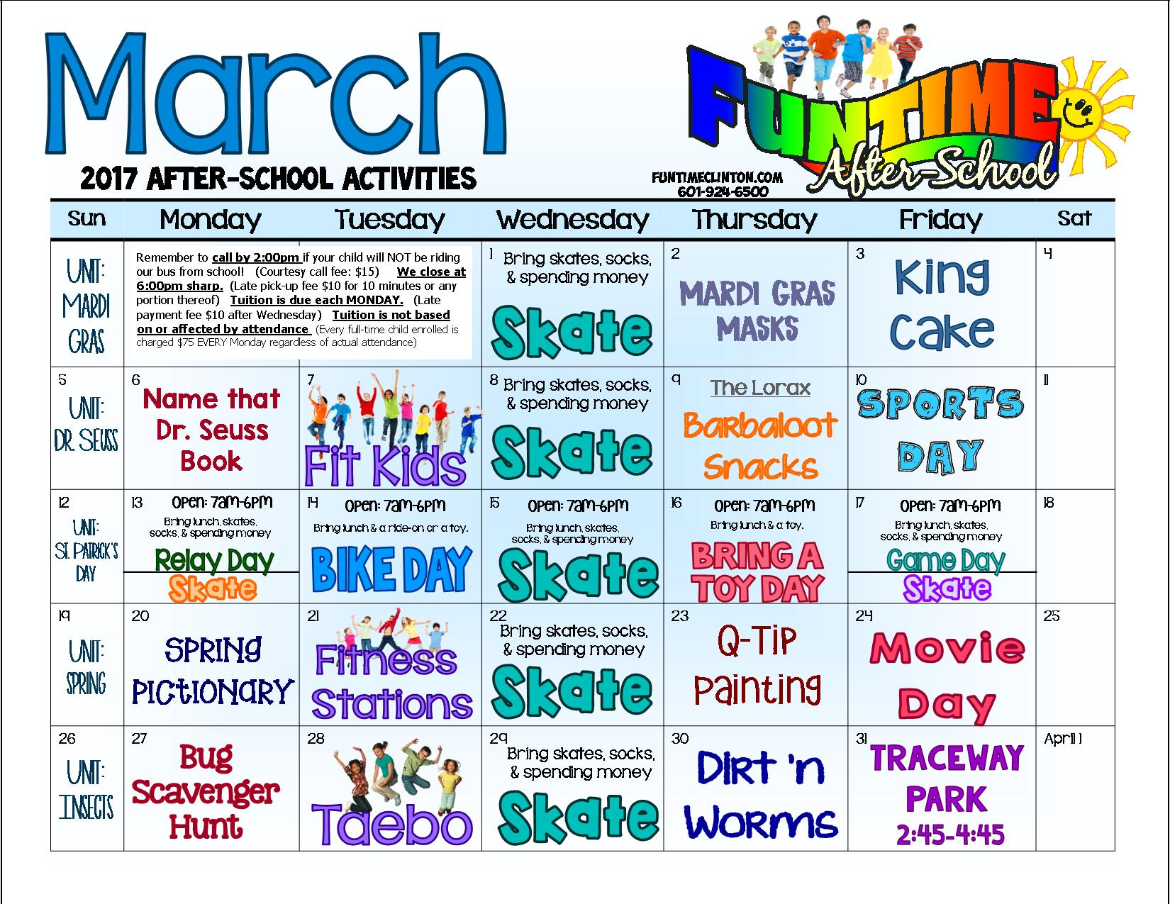 March 17 - AFTERSCHOOL